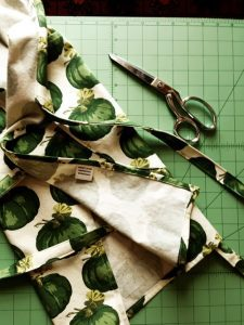Erika Kelly Cutting Fabric