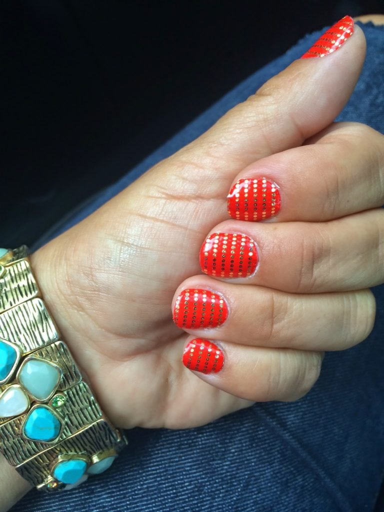 Fun red painted nails