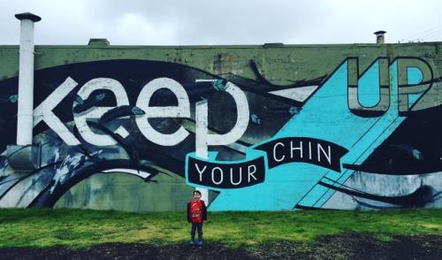 Wall Mural Keep Your Chin Up