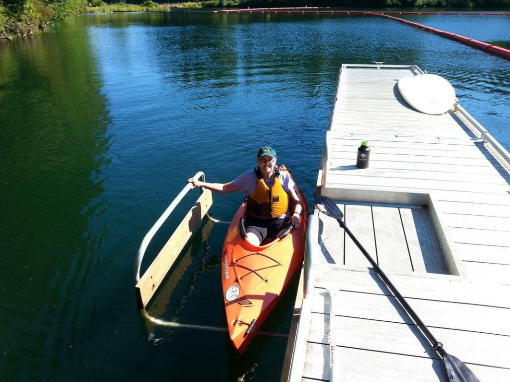 Kayak at dock