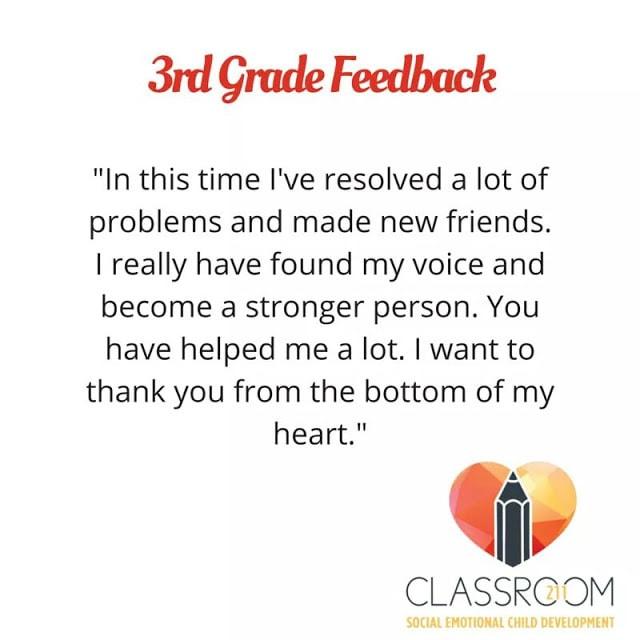 Third Grade Feedback