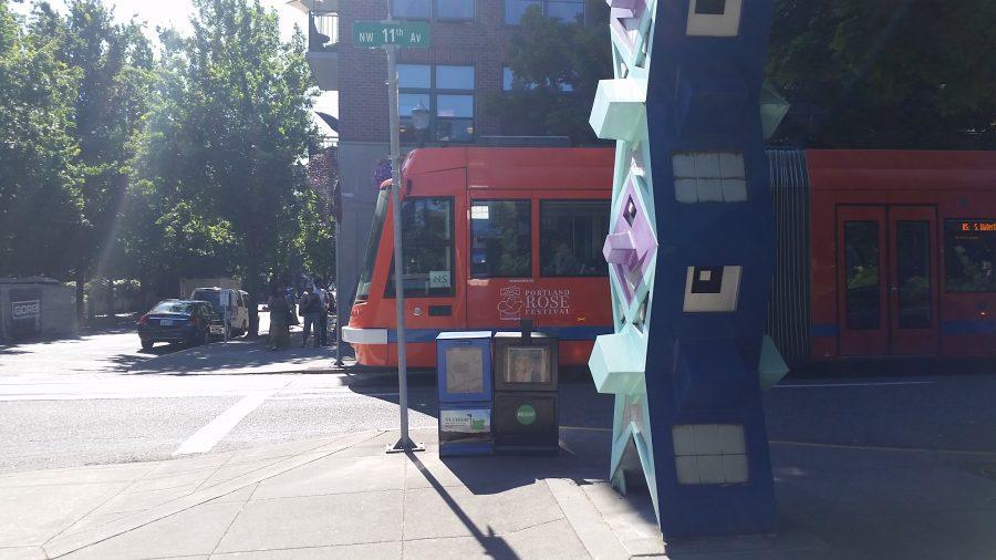 Portland Streetcar at Jamison Square