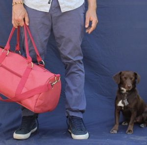 Meridian Lee Duffel Bag and Dog