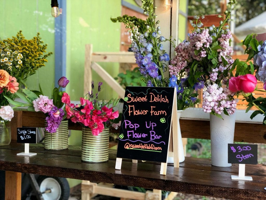 Inside the Sweet Delilah Farm Flower Truck
